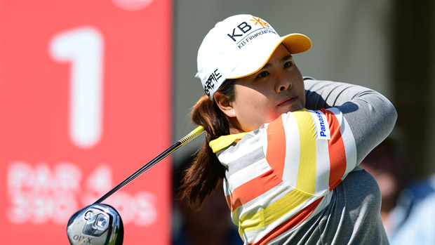 Inbee Park prior to the start of the Lorena Ochoa Invitational presented by Banamex
