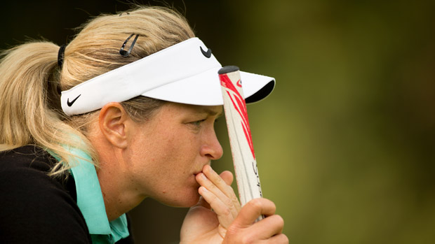 Suzann Pettersen during the first round of the Lorena Ochoa Invitational Presented by Banamex