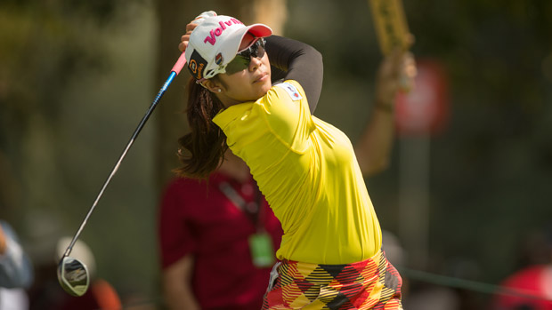 Pornanong Phatlum during the final round of the Lorena Ochoa Invitational Presented by Banamex