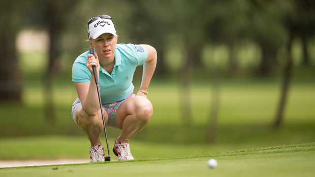 Morgan Pressel during the second round of the Lorena Ochoa Presented by Banamex