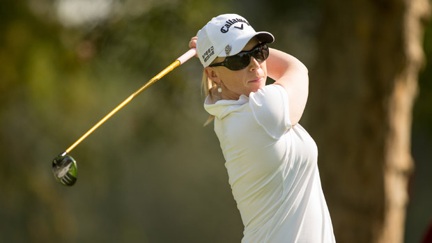 Morgan Pressel during the final round of the Lorena Ochoa Invitational Presented by Banamex