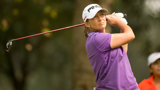 Angela Stanford during the first round of the Lorena Ochoa Invitational Presented by Banamex