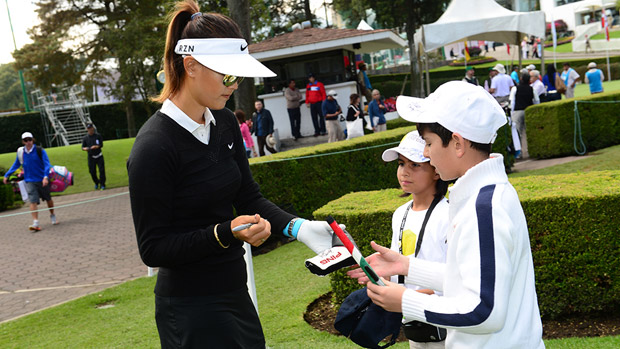 Michelle Wie prior to the start of the Lorena Ochoa Invitational Presented by Banamex