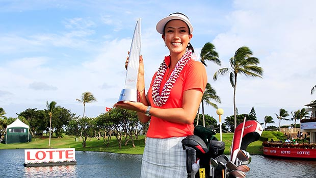 Michelle Wie during the final round of the 2014 LPGA LOTTE Championship Presented by J Golf