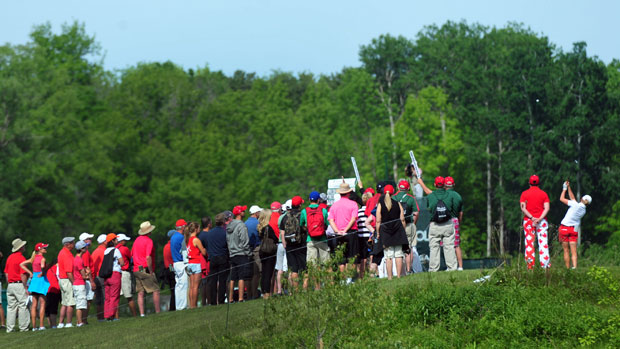 Stacy Lewis during the second round of the Manulife Financial LPGA Classic