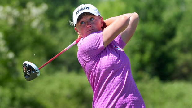 Stacy Lewis during the third round of the Manulife Financial LPGA Classic