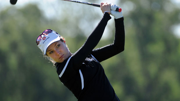 Alejandra Llaneza during the first round of the Manulife Financial LPGA Classic