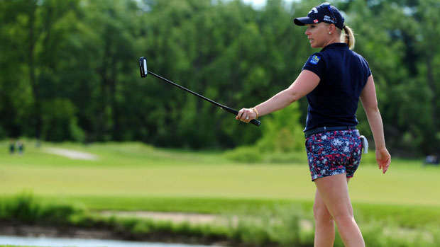 Morgan Pressel during the second round of the Manulife Financial LPGA Classic