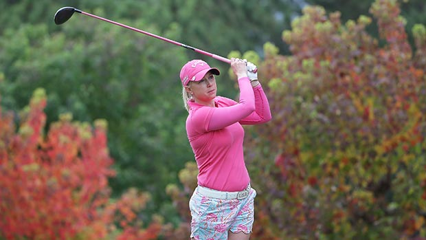 Morgan Pressel during the final round of the 2014 Mizuno Classic