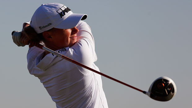 Stacy Lewis during the first round of the 2014 North Texas LPGA Shootout Presented by JTBC