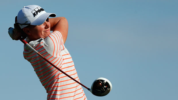 Stacy Lewis during the second round of the 2014 North Texas LPGA Shootout