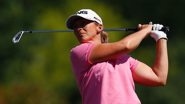 Angela Stanford during the first round of the 2014 North Texas LPGA Shootout Presented by JTBC