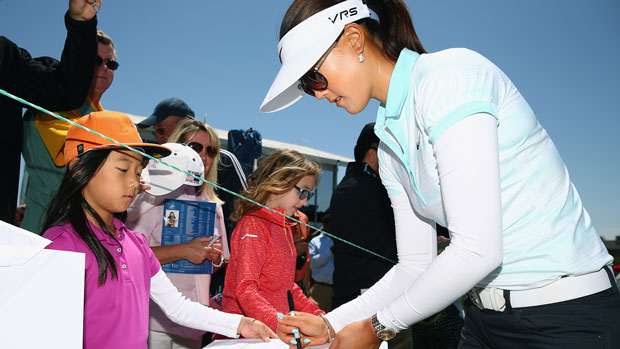 Michelle Wie during the first round of the 2014 North Texas LPGA Shootout Presented by JTBC
