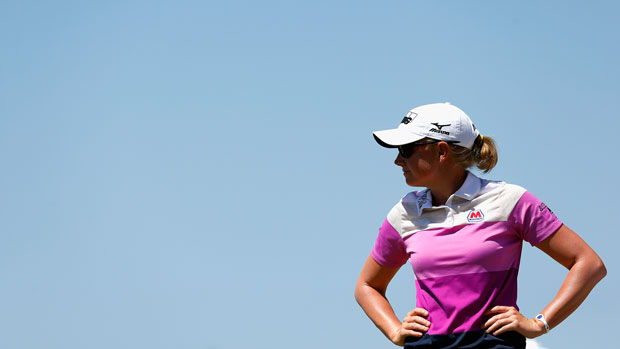 Stacy Lewis during the final round of the 2014 North Texas LPGA Shootout Presented by JTBC