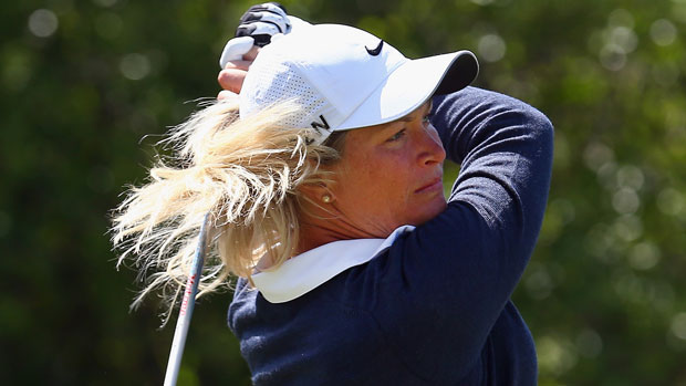 Suzann Pettersen during the first round of the 2014 North Texas LPGA Shootout Presented by JTBC