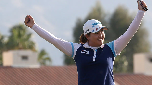Inbee Park after winning the 2013 Kraft Nabisco Championship