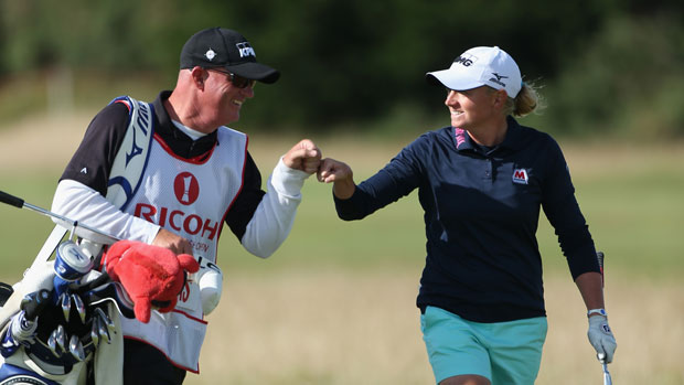 Stacy Lewis during the Final Round of the 2013 RICOH Women's British Open