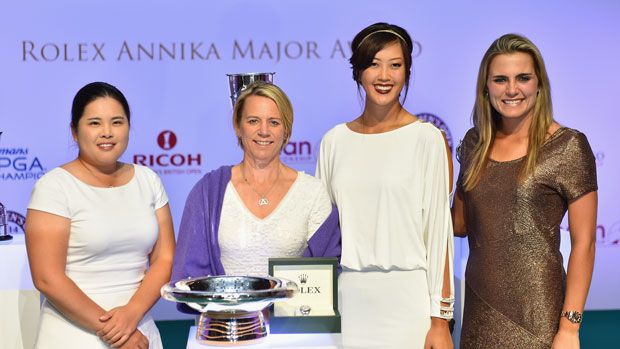 2014 Major Winners during the Rolex Annika Major Award Ceremony