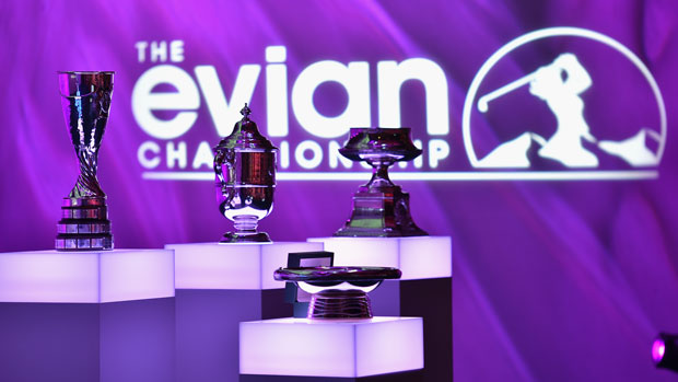 Major Championship Trophies during the Rolex Annika Major Award Ceremony
