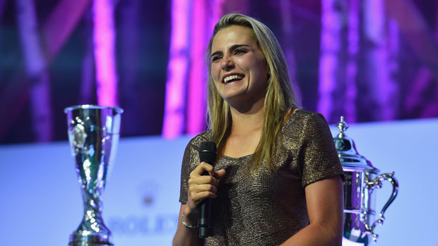 Lexi Thompson during the Rolex Annika Major Award Ceremony