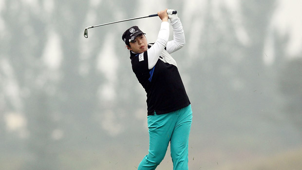 Shanshan Feng during the third-round of the Reignwood LPGA Classic