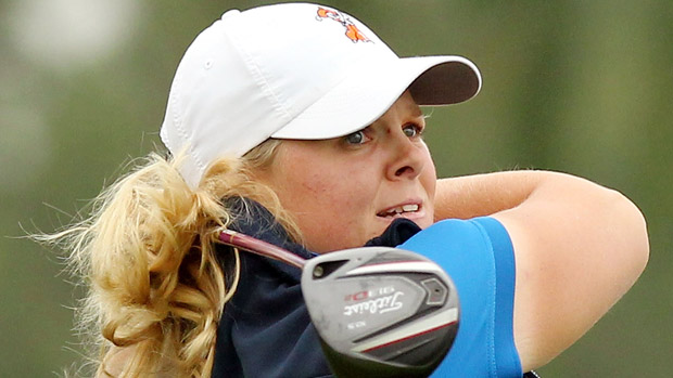Caroline Hedwall during the third-round of the Reignwood LPGA Classic