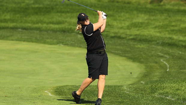 Caroline Hedwall during the final round of the Reignwood LPGA Classic