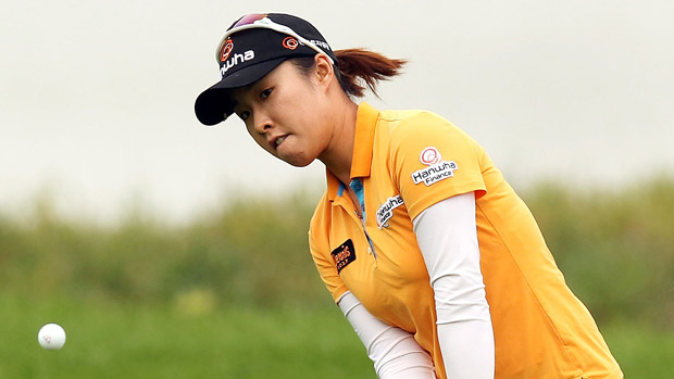 Haeji Kang during the second round of the Reignwood LPGA Classic