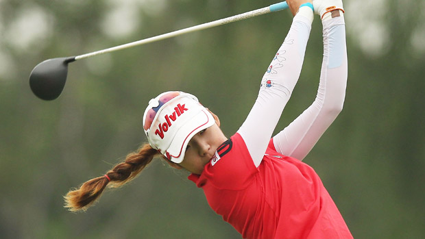Mi Hyang Lee during the second round of the Reignwood LPGA Classic