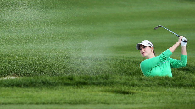 Caroline Masson during the final round of the Reignwood LPGA Classic