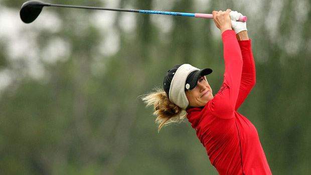 Belen Mozo during the third-round of the Reignwood LPGA Classic