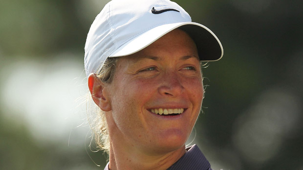 Suzann Petterson during the first round of the Reignwood LPGA Classic