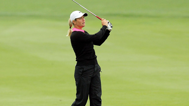 Suzann Pettersen during the third-round of the Reignwood LPGA Classic