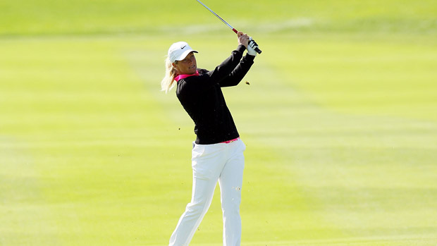 Suzann Pettersen during the final round of the Reignwood LPGA Classic