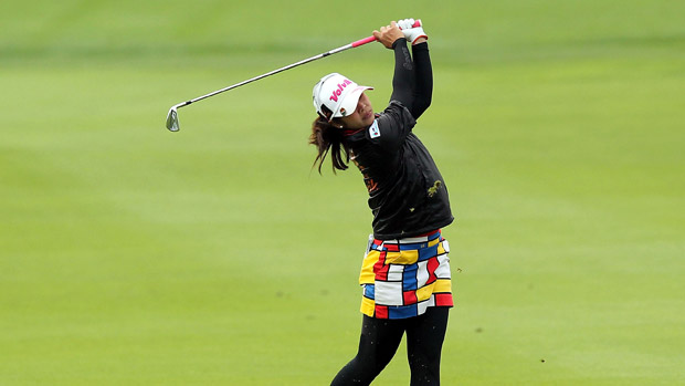 Pornanong Phatlum during the first round of the Reignwood LPGA Classic