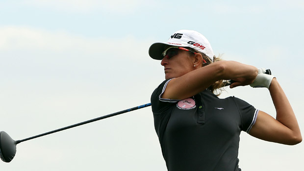 Julia Sergas during the first round of the Reignwood LPGA Classic