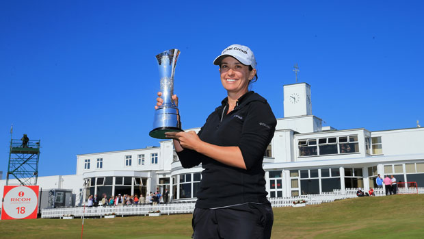 Mo Martin after winning the 2014 RICOH Women's British Open