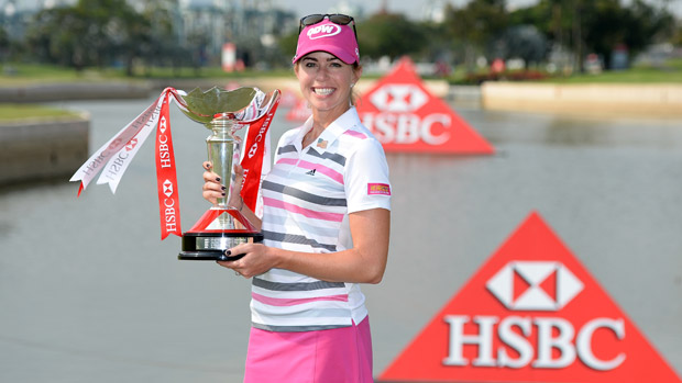 Paula Creamer wins the 2014 HSBC Women's Champions