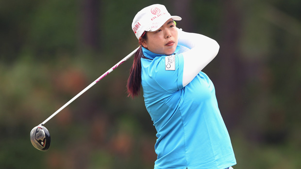 Shanshan Feng during the third round of the U.S. Women's Open