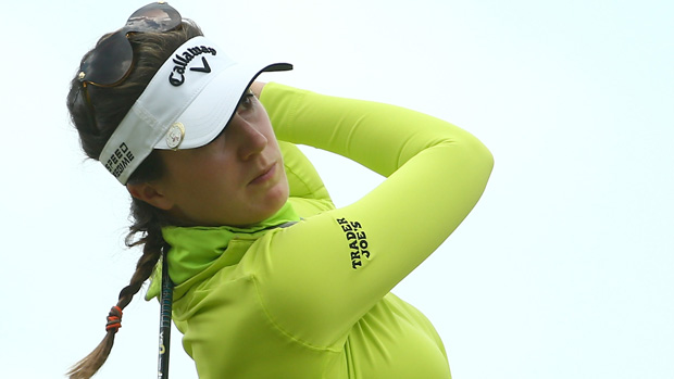 Sandra Gal during the second round of the U.S. Women's Open
