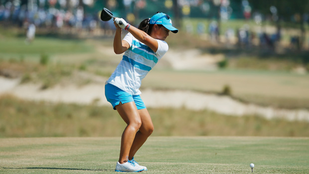 Danielle Kang during the first round of the U.S. Women's Open