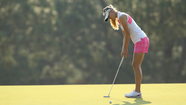 Jessica Korda during a practice round prior to the start of the U.S. Women's Open