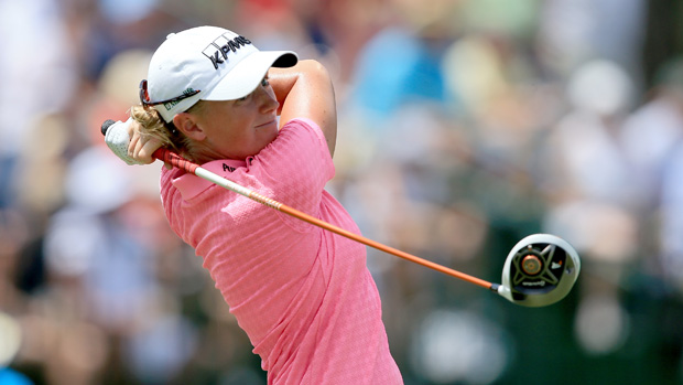Stacy Lewis during the third round of the U.S. Women's Open