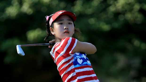 Lucy Li during the first round of the U.S. Women's Open