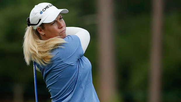 Brittany Lincicome during a practice round at the U.S. Women's Open conducted by the USGA