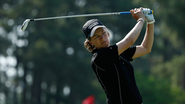 Catriona Matthew during apractice round prior to the start of the U.S. Women's Open