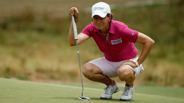 Catriona Matthew during the final round of the U.S. Women's Open