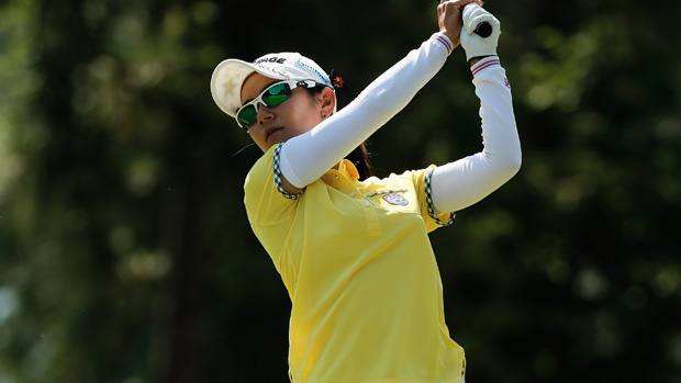 Ai Miyazato during the first round of the U.S. Women's Open