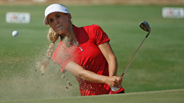 Belen Mozo during the second round of the U.S. Women's Open