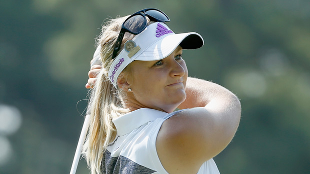 Anna Nordqvist during a practice round prior to the start of the U.S. Women's Open